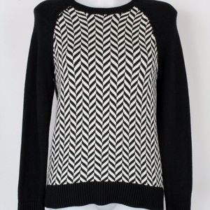 Michael Kors Black & White Knit Sweater Size XS